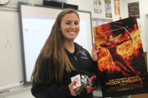 Amber Lubie wins Mockingjay prize pack