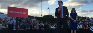 Students rally for Rubio