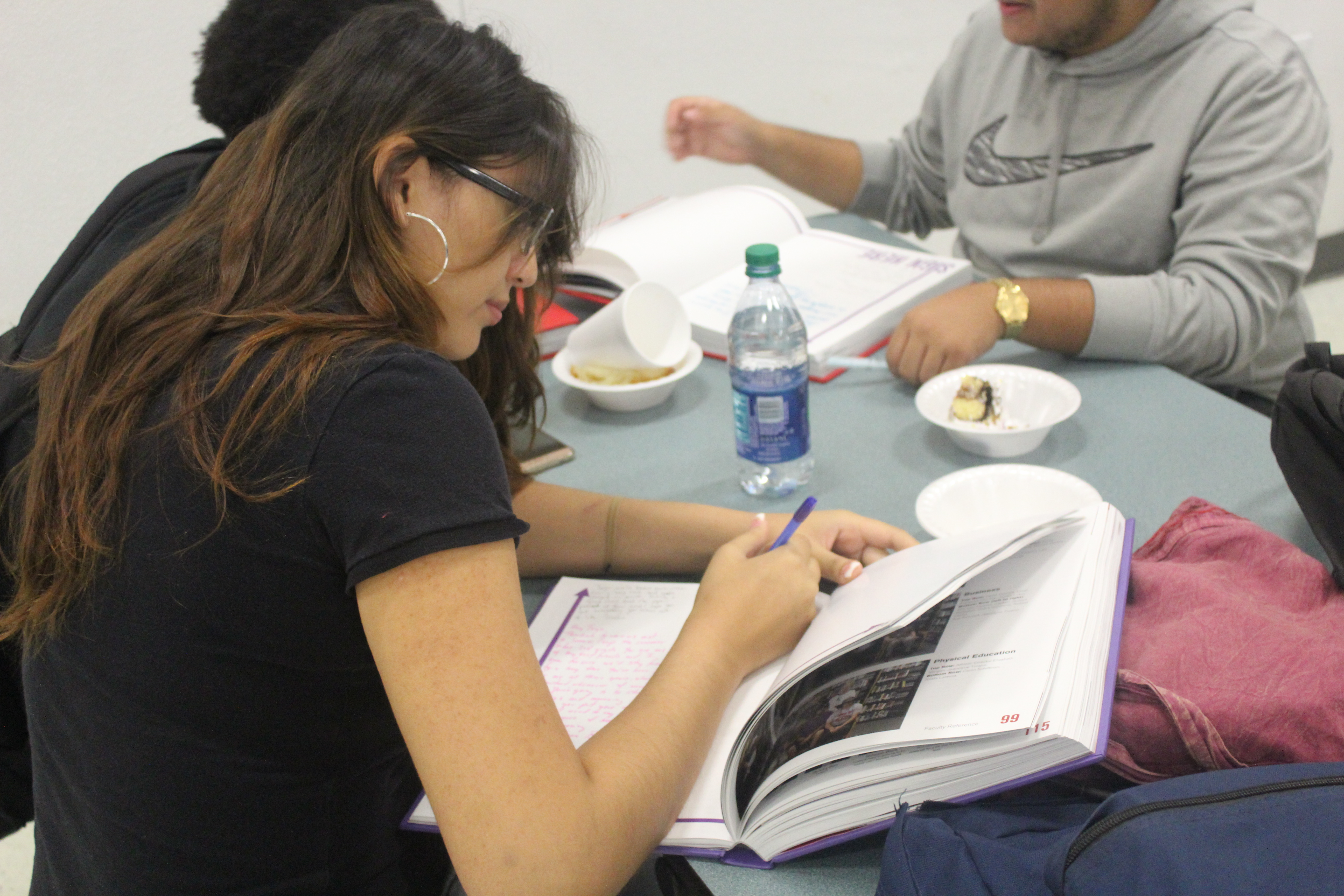 Students attend yearbook signing party