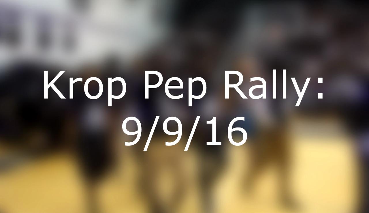 Pep Rally 9/9/16
