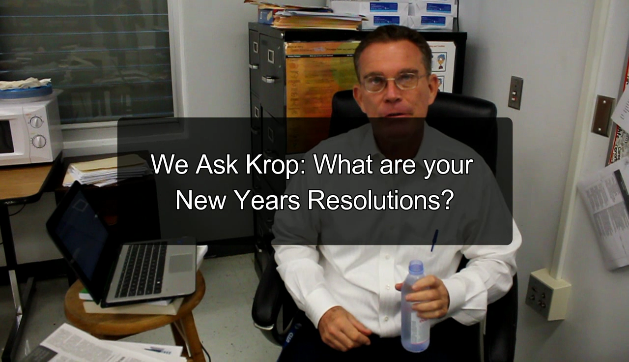 We Ask Krop: What are your New Years Resolutions?