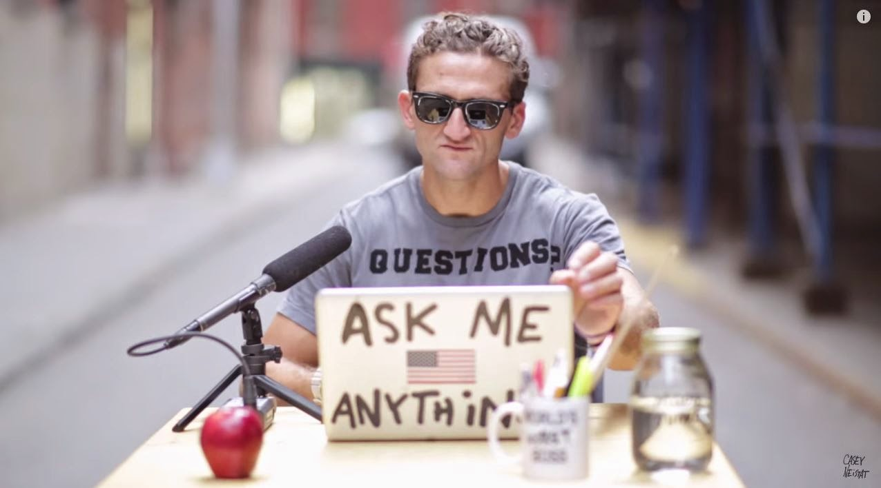 Casey Neistat restarts video blog
