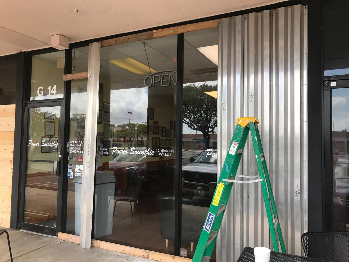 The well-known Aventura smoothie shop opened Monday, September 11, 2017, a day after Irma's Florida landfall. Before employees turned on the