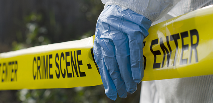 Forensic+investigator+works+at+a+crime+scene.+Krop+added+forensic+science+to+their+electives+during+the+2015-2016+school+year.