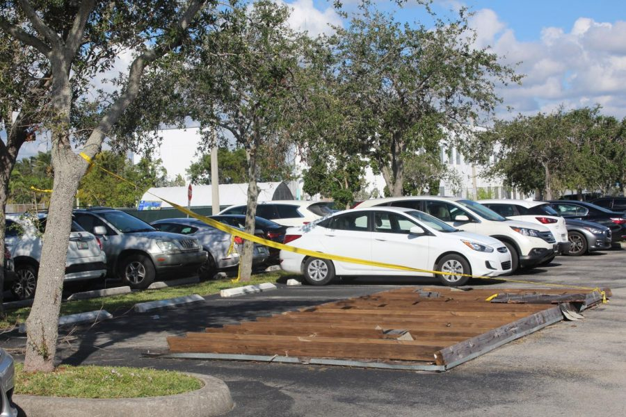 3 months after Irma, dugout roof blocks student parking