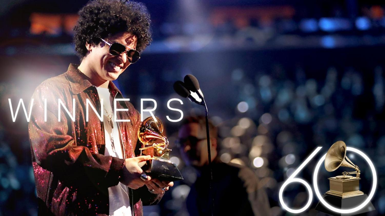 Artist Bruno Mars wins the award for Album of the Year for