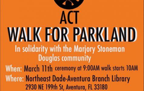 "Berliavsky, Yehoshua organize ""Walk For Parkland"" in Aventura"