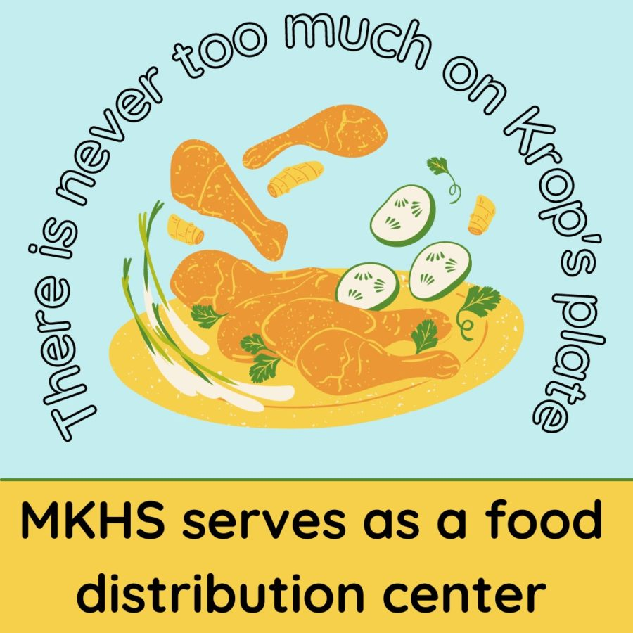 There is never too much on Krop's plate: MKHS serves as a food distribution center